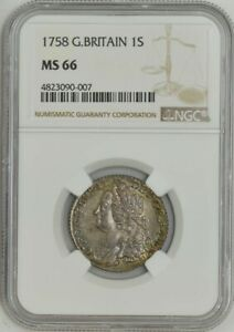 Click now to see the BUY IT NOW Price! 1758 GREAT BRITAIN 1 SHILLING MS66 NGC