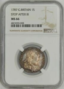 Click now to see the BUY IT NOW Price! 1787 GREAT BRITAIN 1 SHILLING STOP AFTER III MS66 NGC 943596 26