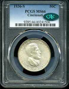 Click now to see the BUY IT NOW Price! 1936 S 50C CINCINNATI COMMEMORATIVE HALF DOLLAR MS66 PCGS CAC 40241506