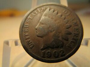 1902 AVERAGE CIRCULATED INDIAN HEAD PENNY