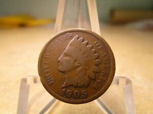 1905 AVERAGE CIRCULATED INDIAN HEAD PENNY