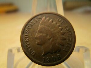 1906 AVERAGE CIRCULATED INDIAN HEAD PENNY