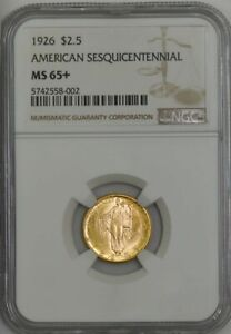 Click now to see the BUY IT NOW Price! 1926 $2 1/2 GOLD SESQUICENTENNIAL SESQUI MS65  NGC 943160 4