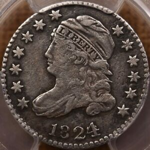 Click now to see the BUY IT NOW Price! 1824/2 JR 2 R5 CAPPED BUST DIME PCGS VF DET DECENT &   DAVIDKAHNCOINS