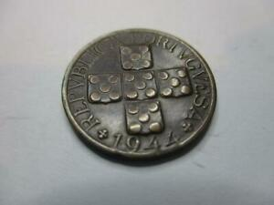 PORTUGAL 20 CENTAVOS 1944 NICE OLD COIN     Z892