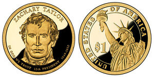 2009 S GEM PROOF ZACHARY TAYLOR DCAM PR PRESIDENTIAL DOLLAR UNCIRCULATED COIN PF