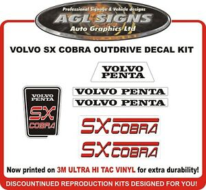 Volvo Penta SX COBRA  Outdrive   Sticker Kit    sterndrive  - EUR 23.44