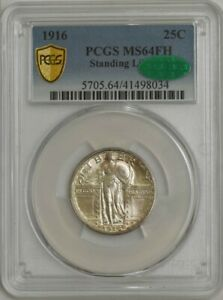 Click now to see the BUY IT NOW Price! 1916 STANDING LIBERTY QUARTER 25C MS64FH PCGS SECURE CAC 943619 1