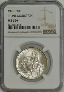 Click now to see the BUY IT NOW Price! 1925 STONE MOUNTAIN 50C MS66  NGC 943365 1