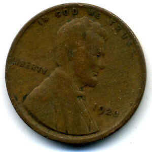 1920 P WHEAT PENNY 1 CENT KEY DATE US CIRCULATED ONE LINCOLN  CENT COIN654