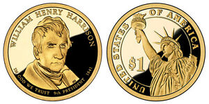 2009 S GEM PROOF WILLIAM HENRY HARRISON PRESIDENTIAL DOLLAR UNCIRCULATED COIN PF