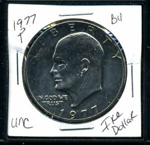 1977 P EISENHOWER DOLLAR CHOICE BRILLIANT UNCIRCULATED MINT STATE US COINWC3351