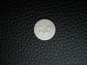 1851 SILVER THREE CENT PIECE  CIRCULATED