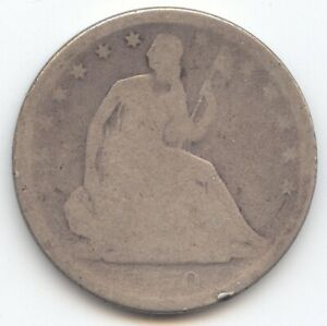 1870 S SEATED LIBERTY HALF DOLLAR AG/GOOD DETAILS  S MINT