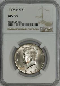 Click now to see the BUY IT NOW Price! 1998 P KENNEDY HALF 50C MS68 NGC 943104 63