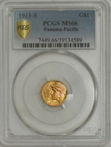 1915 S $ GOLD PANAMA PACIFIC DOLLAR MS66 SECURE PLUS PCGS 943729 66