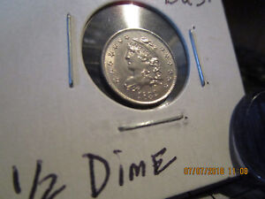 1832  CAPPED BUST 1/2 DIME MINT STATE