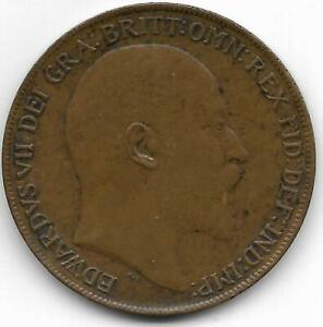 GREAT BRITAIN 1910 PENNY COIN   XF CONDITION