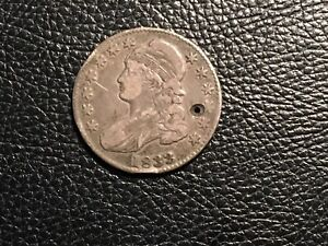 1833 BUST HALF HOLE AND SCRATCHES CHEAP