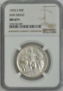 Click now to see the BUY IT NOW Price! 1935 S SAN DIEGO 50C MS67  NGC 943729 47