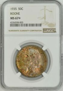Click now to see the BUY IT NOW Price! 1935 BOONE 50C MS67  NGC 943729 9