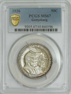 Click now to see the BUY IT NOW Price! 1936 GETTYSBURG 50C MS67 SECURE PLUS PCGS 943194 37