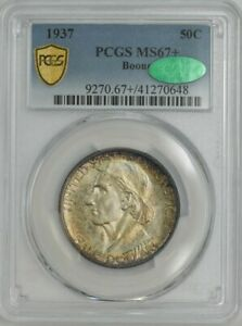 Click now to see the BUY IT NOW Price! 1937 BOONE 50C MS67  SECURE PLUS PCGS   CAC 943559 15