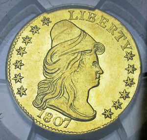 Click now to see the BUY IT NOW Price! 1807 QUARTER EAGLE $2.5 GOLD TURBAN HEAD      PCGS AU DETAILS SLABBED     894
