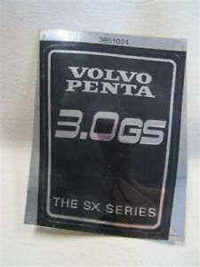 VOLVO PENTA 3851024 STICKER BLACK / SILVER 3.0 GS THE SX SERIES MARINE BOAT  - EUR 8.37