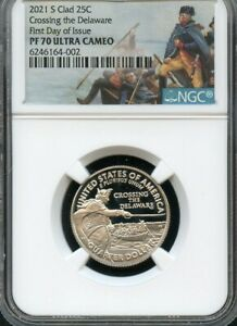 Click now to see the BUY IT NOW Price! 2021 S CLAD QUARTER CROSSING THE DELAWARE F.D.O.I NGC PF70 U.C.  PARK