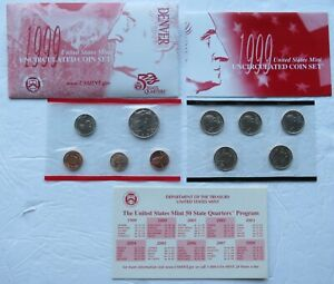 UNITED STATES MINT 1999 UNCIRCULATED COIN SET DENVER W/ STATE QUARTERS