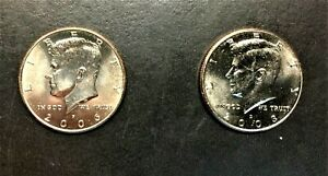 2006 P & 2008 D KENNEDY HALF DOLLARS TWO FOR ONE DEAL   UNC  0242