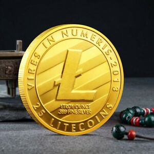 CREATIVE LITECOIN COIN COLLECTIBLE GIFT ART COMMEMORATIVE GOLD PLATED