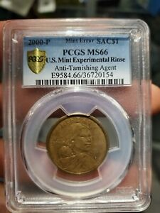 Click now to see the BUY IT NOW Price! 2000 P U.S. EXPERIMENTAL RINSE ANTI TARNISHING AGENT SACAGAWEA DOLLAR