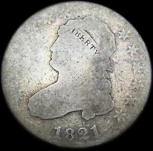 1821 CAPPED BUST QUARTER SILVER        NICE TYPE COIN       M459