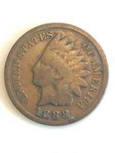 1888  INDIAN HEAD CENT   120  YEAR OLD PENNY  US COPPER TYPE ACTUAL SHOWN  2B1