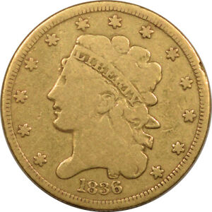 1836 $5 LIBERTY GOLD   CIRCULATED