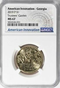 2019 D AMERICAN INNOVATION GA TRUSTEES' GARDEN FIRST REL. NGC MS 67   TOP POP