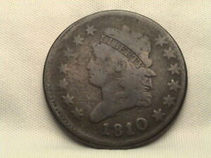 1810/9 CLASSIC HEAD LARGE CENT. S 281 OVERDATE 10 OVER 09