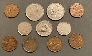 LOT 115  11  CANADIAN COINS 1949 1975