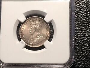 1917 CANADIAN QUARTER NGC UNC. 64 NICE ORIGINAL PRICED UNDER MARKET