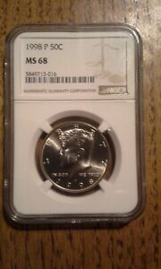 Click now to see the BUY IT NOW Price! 1998 P KENNEDY HALF DOLLAR NGC MS 68