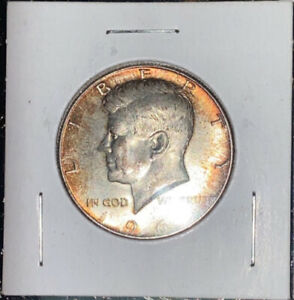 1965 P KENNEDY HALF DOLLAR 40  SILVER TONED AU COIN GREAT COLORS