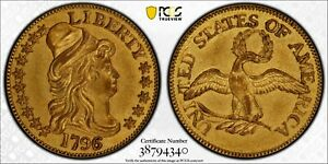 Click now to see the BUY IT NOW Price! 1796/5 HALF EAGLE TURBAN HEAD GOLD $5  PCGS GENUINE AU DETAILS SURFACES SMOOTHED