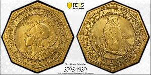 Click now to see the BUY IT NOW Price! 1915 S $50 PANAMA PACIFIC 50 DOLLAR GOLD OCTAGON PCGS MS 64  AMAZING EXAMPLE