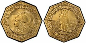 Click now to see the BUY IT NOW Price! 1915 S $50 PANAMA PACIFIC 50 DOLLAR GOLD OCTAGON PCGS MS 65 BEAUTIFUL