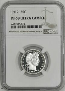 Click now to see the BUY IT NOW Price! 1912 BARBER QUARTER 25C PF68 PR68 ULTRA CAMEO NGC 941926 13