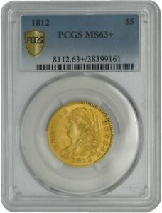1812 $5 GOLD CAPPED BUST MS63  SECURE PLUS PCGS 941663 2