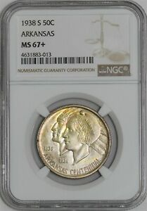 Click now to see the BUY IT NOW Price! 1938 S ARKANSAS 50C MS67  NGC 939680 6