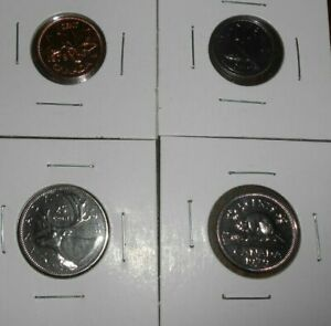LOT OF 4 CANADA  PROOF LIKE 1979 COINS 1 CENT 10 CENTS 5 CENTS 25 CENTS COINS